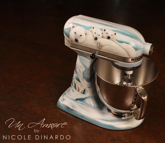 high heel custom hand painted kitchenaid mixer un amore custom designs. Black Bedroom Furniture Sets. Home Design Ideas