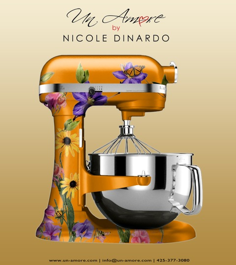 Digital concepts vs completion of custom hand painted kitchenaid mixers un amore custom designs - Decorated kitchenaid mixer ...
