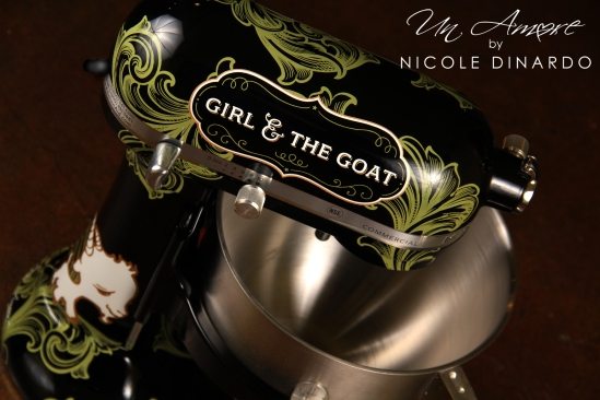 Completed Girl & The Goat custom KitchenAid