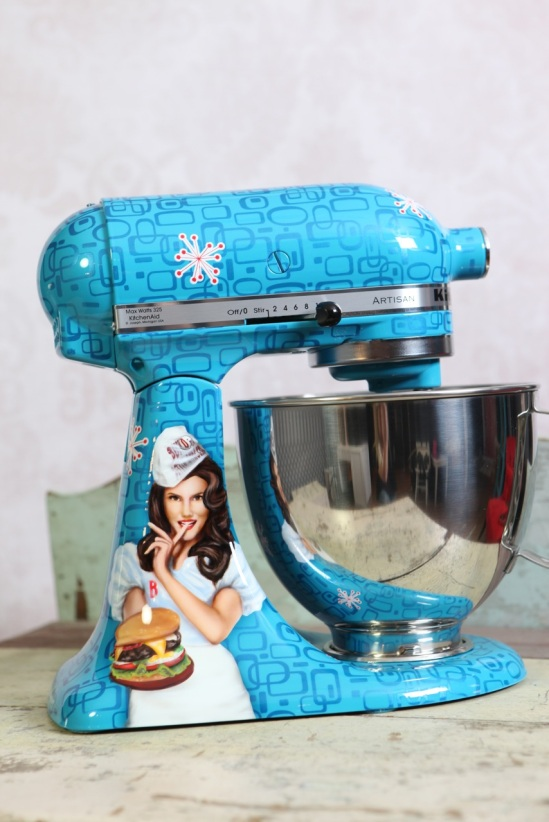 Of custom hand painted kitchenaid mixers un amore custom designs