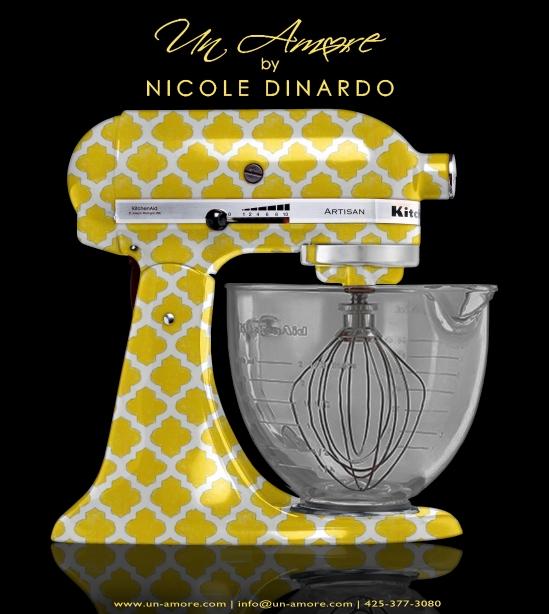 Yellow Quatrefoil design