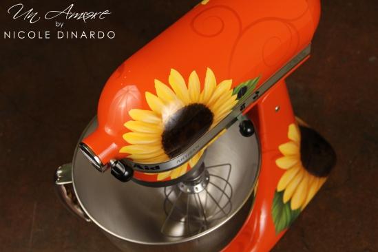 Sunflowers on Persimmon
