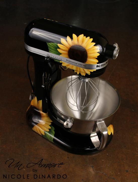Marvelous Flowers On Kitchenaid Mixer Un Amore Custom Designs Interior Design Ideas Gresisoteloinfo