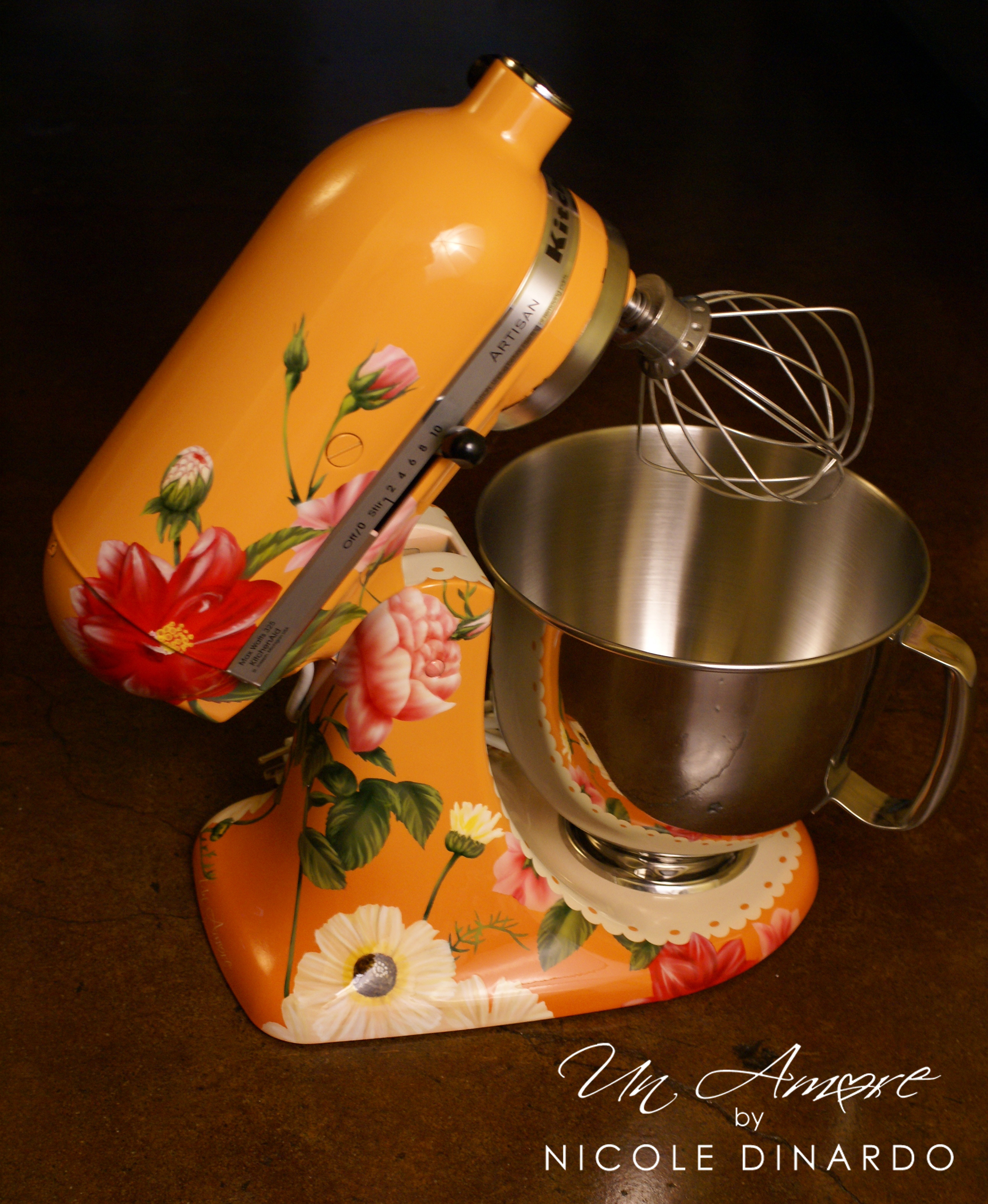 The pioneer woman custom kitchenaid mixer now available for purchase un amore custom designs - Decorated kitchenaid mixer ...