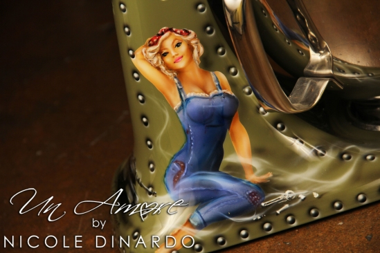 Bomber Pinup In Overalls Un Amore Custom Designs