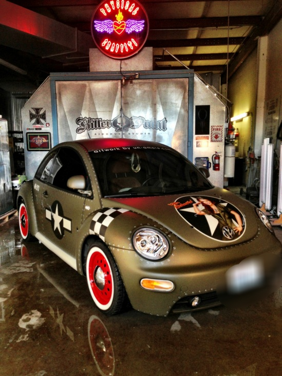 wwii themed vw beetle  amore custom designs