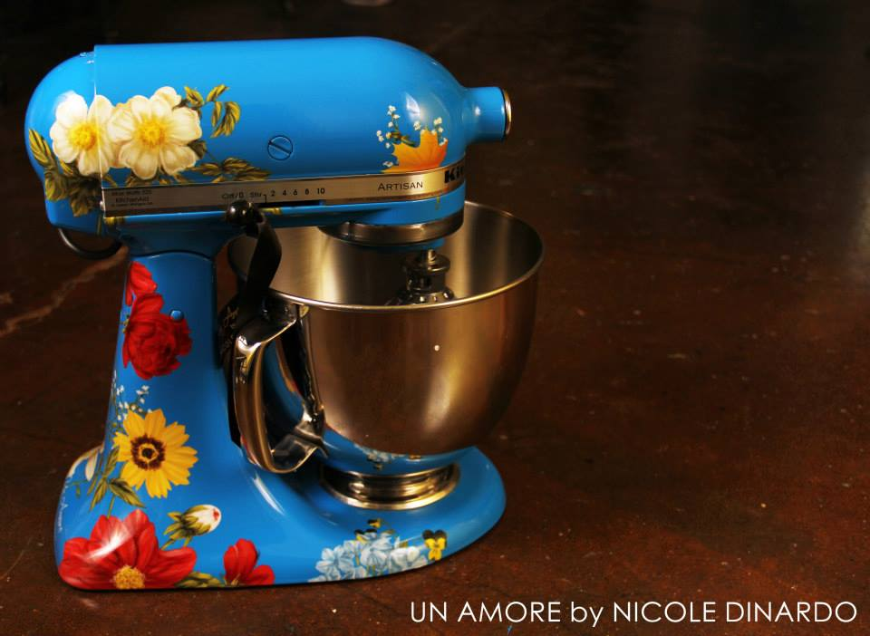 design your own kitchen aid mixer pioneer blue floral mixer now available un 750